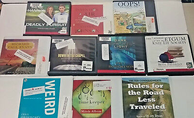 Christian Audio Books Lot of 10 on CD FREE SHIPPING Unabridged A-6