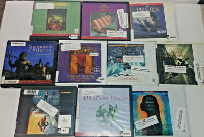 Young Adult Fantasy  Audio Books Lot of 10 on CD FREE SHIPPING Unabridged A-8