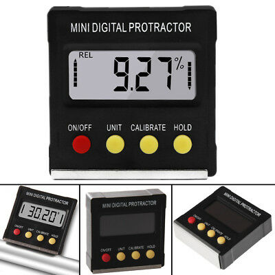 360° Digital Inclinometer Electronic Angle Gauge Meter Protractor Magnetic Base