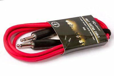 Guitar Lead (3M): Cable For Bass/electric.electro Acoustic - Red - Free Postage