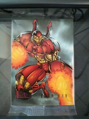 MARVEL ULTRA ONSLAUGHT - PROMO CARD  n. 2 -  IRON MAN by Rob Liefeld.