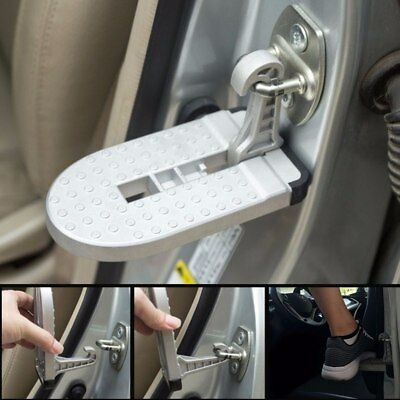 Car Doorstep Easy Access to Car Rooftop Vehicle Folding Ladder Hooked on Foot