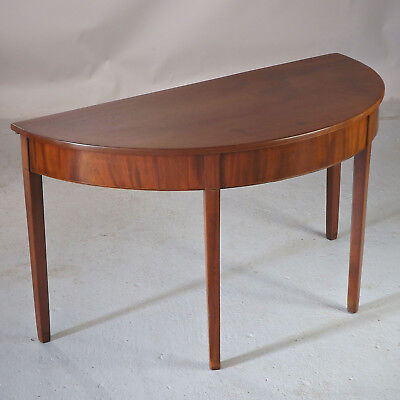 Demi Lune Table Side Table  (delivery £40) - Antique Mahogany