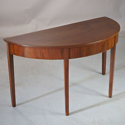 Demi Lune Table Side Table  (delivery available) - Antique Mahogany