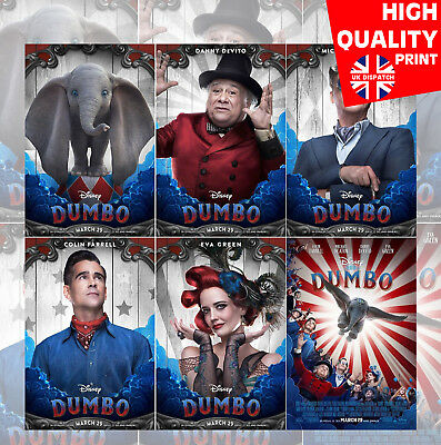 Dumbo Posters Tim Burton Movie Characters Poster Art Print   A4 A3 A2 A1  