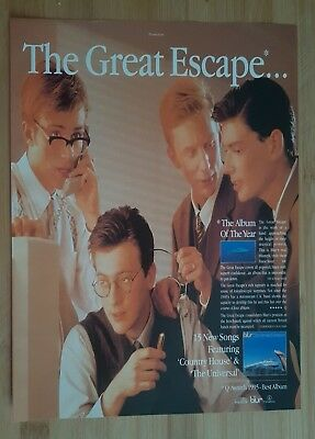 blur magazine print ad for album the great escape App 22x30cm