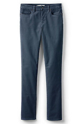 Lands' End NWT Womens Plus Mid Rise Straight Leg Cord Pants Radient Navy MSRP$70