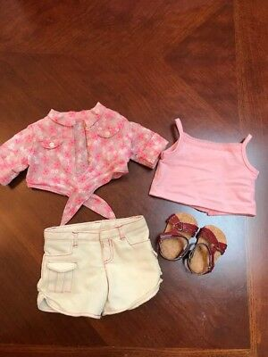 American Girl Doll Outfit for Nicki Tie Top & Shorts Outfit Complete