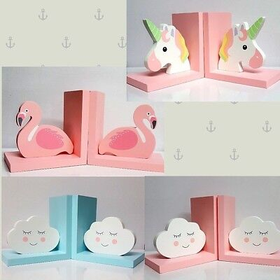 Cute Designs Bookend For Girls Boys Kids Room Nursery Home Decor Gifts