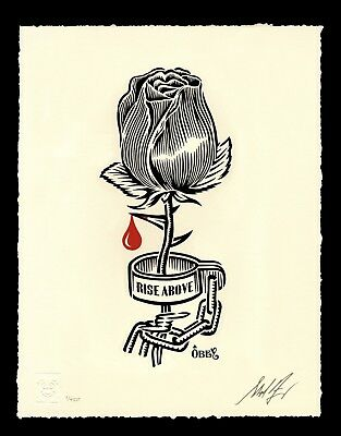 Obey Rose Shackle Stencil signed by Shepard Fairey! LE 450 IN HAND READY TO SHIP