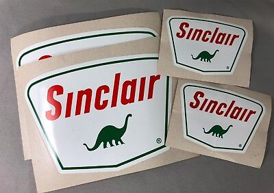 4 SINCLAIR Gas & Oil Service Station Vinyl STICKERs Vintage Advertising