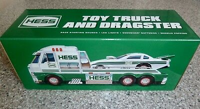 2016 HESS Toy Truck and Dragster, Sold Out, Brand New