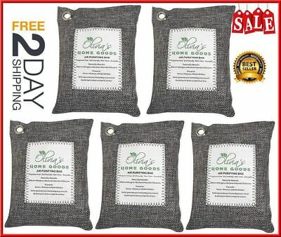 Air Purifying Bag Nature Fresh Style Charcoal Bamboo Purifier Mold Odor 5 Pack