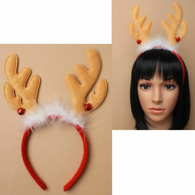 X12 WHITE SNOWBALL HEAD DEELEY BOPPERS HEADBAND WITH TINSEL WHOLESALE CHRISTMAS
