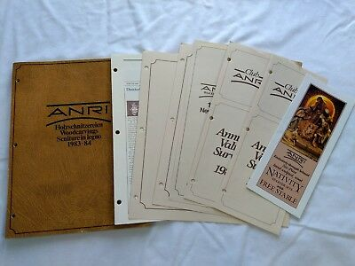 Vintage ANRI WOODCARVINGS 1983-84 Catalog and Price Lists