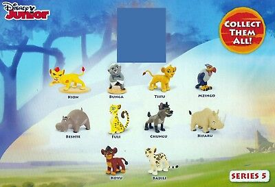 ALL 10 x DISNEY JUNIOR THE LION GUARD MINI FIGURES SERIES 5 *NEATLY RESEALED*