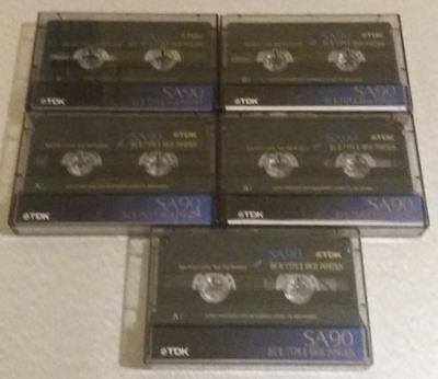 5 units cassette TDK SA-90, used (lot 1)