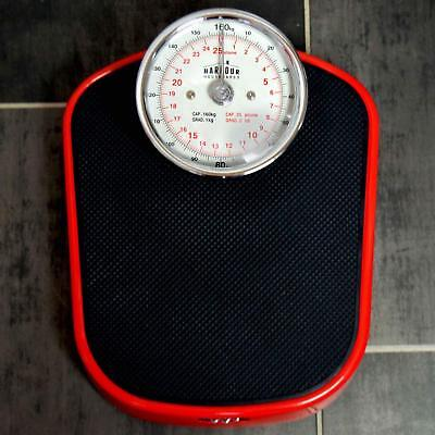 Heavy Duty Quality Traditional Bathroom Scales - Red Doctors Style Weight Dial