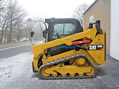 2017 CATERPILLAR 259D TRACKLOADER, CAB w/ HEAT, AC, 2 SPEED, ONLY 146 HOURS