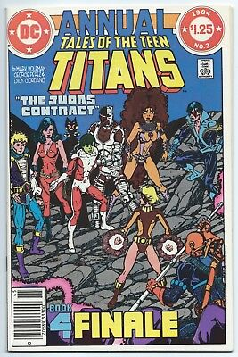 TALES OF THE TEEN TITANS ANNUAL #3 April 1984 DC NM+ 9.6 JUDAS CONTRACT FINALE!