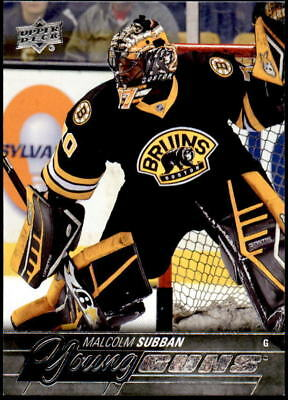 2015-16 Upper Deck #211 Malcolm Subban Rookie Young Guns (ref 13434)