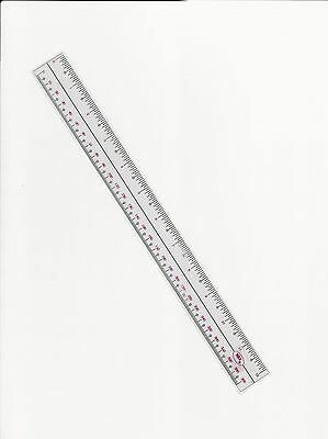 Ruler 12 inch flexible transparent plastic