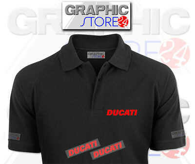 2x DUCATI Iron on Clothing Decals