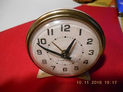 Vintage Westclox wind up alarm clock Retro Made in USA Needs some repairs