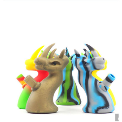Collectible Dragon Bong High Quality Hookah Silicone  Water Pipe Glass Bowl