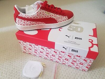 NIB RARE PUMA x HELLO KITTY Suede Shoes Sneakers IN HAND 7-8.5