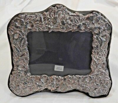 Vintage Ornate Sterling Silver Picture Frame 4 x 5 Made in England