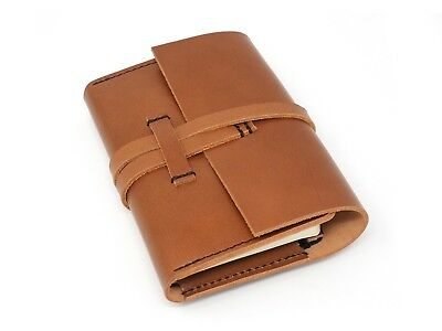 Marlondo Leather Journal Cover - Small, Tobacco Veg Tan Notebook CLEARANCE