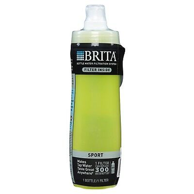 Brita Bottle Water Filtration System Sport with Filter 20 Oz BPA Free New