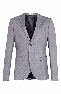 TOPMAN Skinny Fit Light Gray Blazer Suit Jacket Size 38R 40R