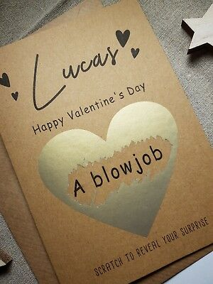 funny valentines card for boyfriend husband naughty personalised a blowjob