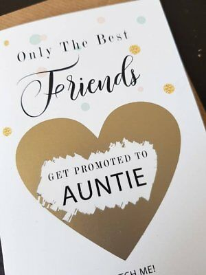 Pregnancy announcement card for sister friend get promoted to auntie reveal