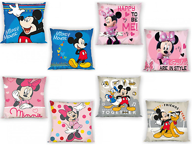 Official Disney Mickey Mouse / Minnie Mouse Pillow Case - 40x40cm