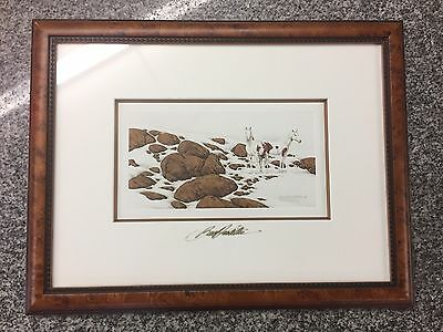 """Bev Doolittle's Hide And Seek Cameo """"E"""" Print 6958/25000 Appears To Be Signed"""