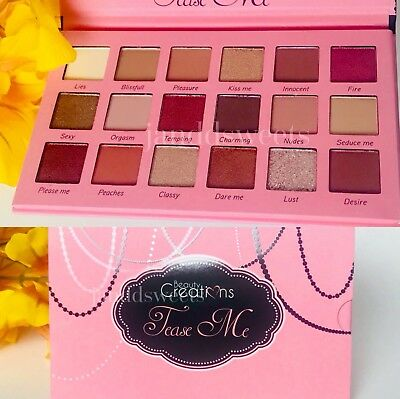 Beauty Creations Tease Me Eyeshadow Palette Highly Pigmented 18 Shades USA