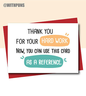 Funny New job card good luck leaving colleague co-worker Goodbye comedy SL1