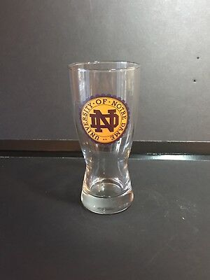 Vintage University of Notre Dame Logo Pilsner Beer Glass • New OS circa '93