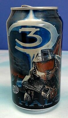 Mountain Dew Halo 3 Game Fuel Citrus Cherry Flavor soda can. Limited Edition. Em