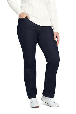 4e933562266ed Lands  End NWT Women s Plus High Rise Straight Leg Jeans Deep Indigo MSRP   79.95