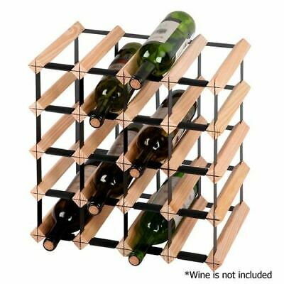 Heavy Duty Timber Wine Rack Bar Organizer Restaurant Storage Furniture 20 Bottle