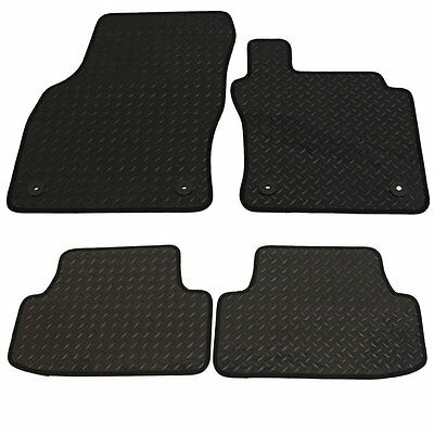 Toyota Yaris 2011 Onwards TAILORED New Black Heavy Duty Rubber CAR Mats
