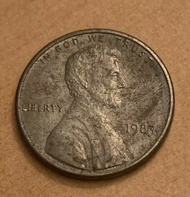 """1983 1¢ Lincoln Cent """"NO COPPER"""" Wrong Planchet?"""