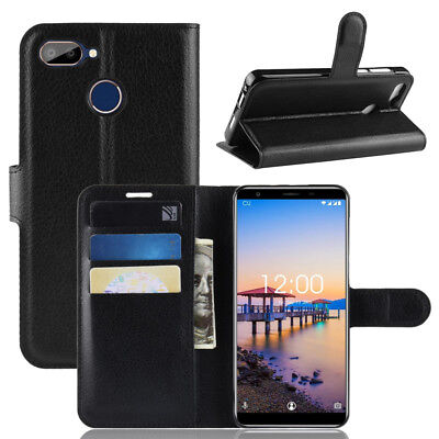 For Oukitel C11 Pro, Classic Flip Leather Wallet Stand Case Soft TPU Card Cover