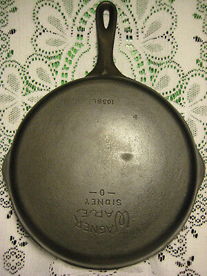 Old Vintage Wagner Ware No. 8 Cast Iron Skillet +Smooth & Fully Restored