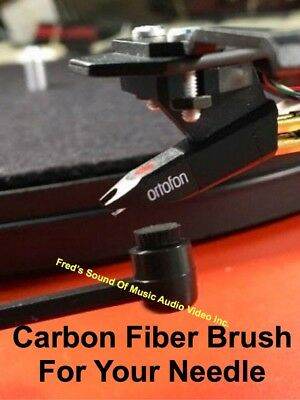 NEW Needle Cleaner Brush Carbon Fiber Bristle Stylus Cleaning Turntable Cartridg