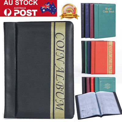 120 Collection Storage Penny Pockets Money Album Book Collecting Coin Holders AU